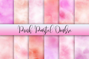 Pink Pastel Ombre Watercolor Background Graphic Backgrounds By PinkPearly