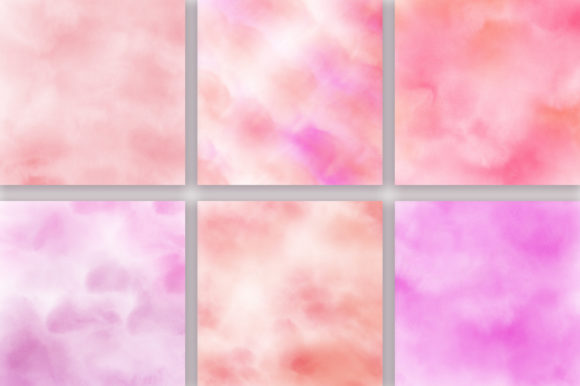 Pink Pastel Ombre Watercolor Background Graphic Backgrounds By PinkPearly - Image 3