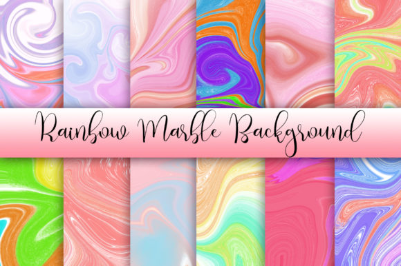 Rainbow Marble Background Graphic Backgrounds By PinkPearly