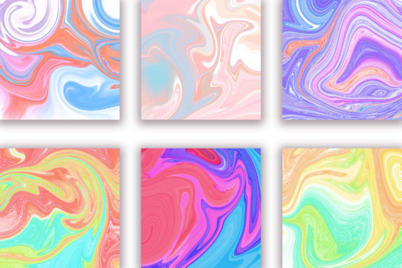 Rainbow Marble Background Graphic Backgrounds By PinkPearly - Image 2