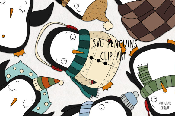 Download Free Penguins Clipart Graphic By Notturnoclipart Creative Fabrica for Cricut Explore, Silhouette and other cutting machines.