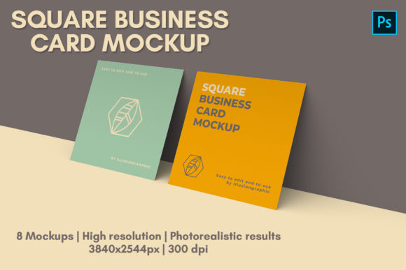 Download Free Square Business Card Mock Up 8 Views Graphic By Illusiongraphicdesign Creative Fabrica for Cricut Explore, Silhouette and other cutting machines.