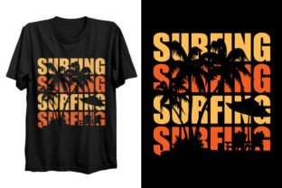 Print on Demand: Surfing T-shirt Design Graphic Print Templates By Graphicflow
