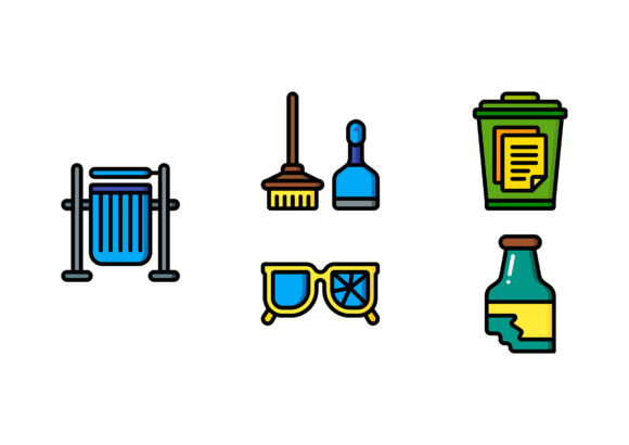 Download Free Trash Graphic By Colorkhu123 Creative Fabrica for Cricut Explore, Silhouette and other cutting machines.