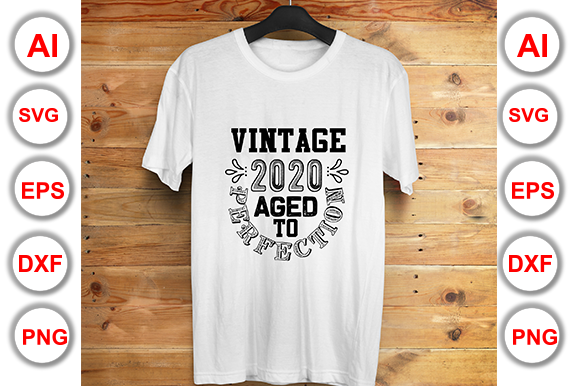 Vintage 2020 Aged To Perfection Graphic By Graphics Cafe