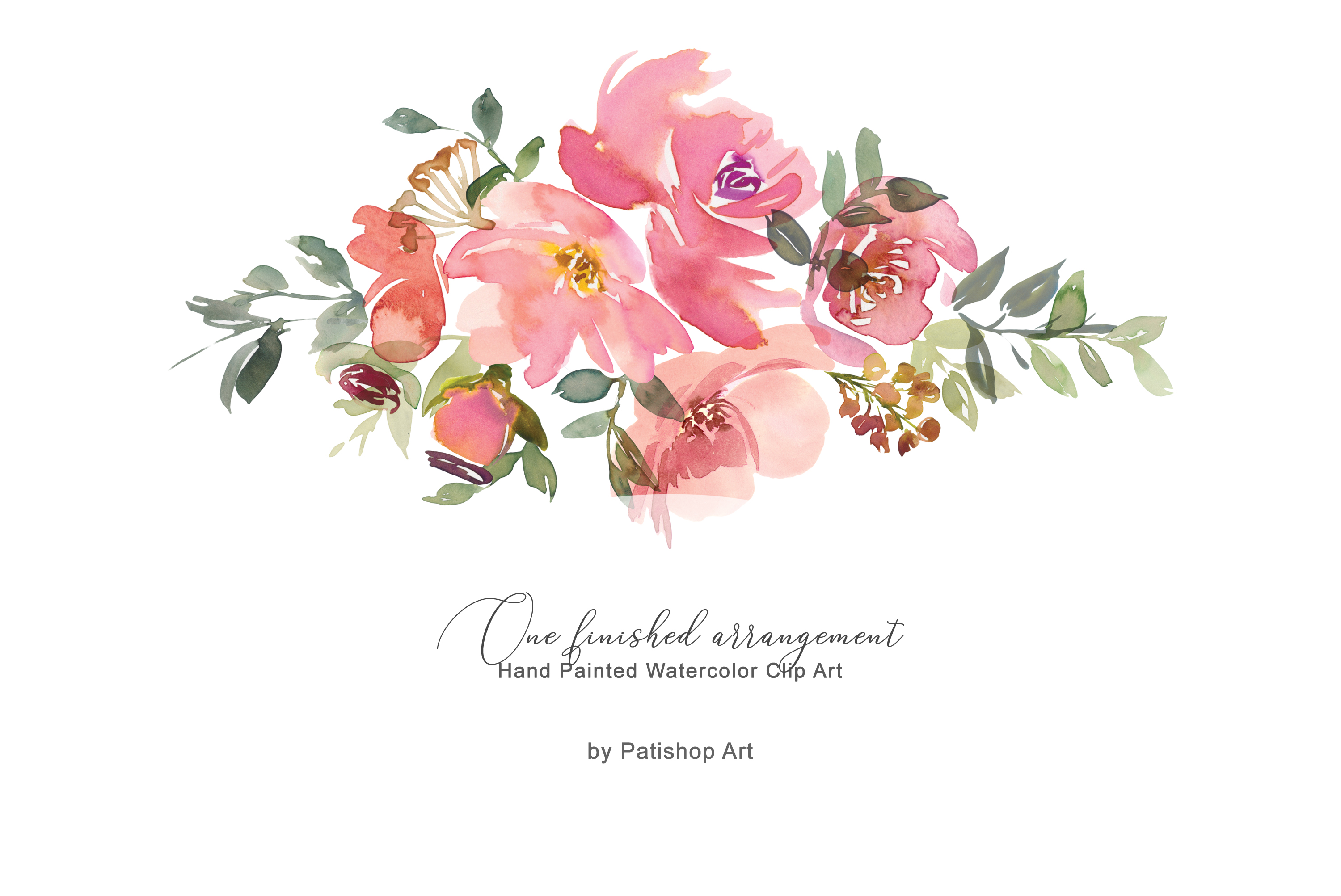Download Free Watercolor Blush Floral Clip Art Graphic By Patishop Art for Cricut Explore, Silhouette and other cutting machines.
