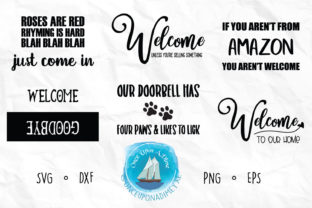 Download Free Welcome Mat Bundle Outdoor Graphic By Onceuponadimeyxe for Cricut Explore, Silhouette and other cutting machines.