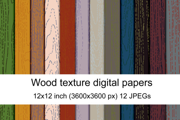Print on Demand: Wood Texture 1 Graphic Textures By Andrea Kostelic