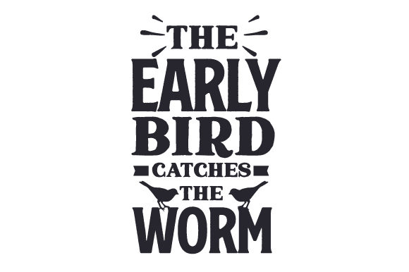 Download Free The Early Bird Catches The Worm Svg Cut File By Creative Fabrica for Cricut Explore, Silhouette and other cutting machines.