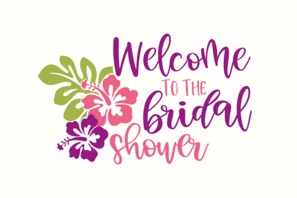Tropical Bridal Shower Graphic Crafts By Graphipedia - Image 3
