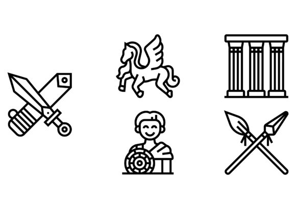 Download Free Ancient Greece Graphic By Colorkhu123 Creative Fabrica for Cricut Explore, Silhouette and other cutting machines.
