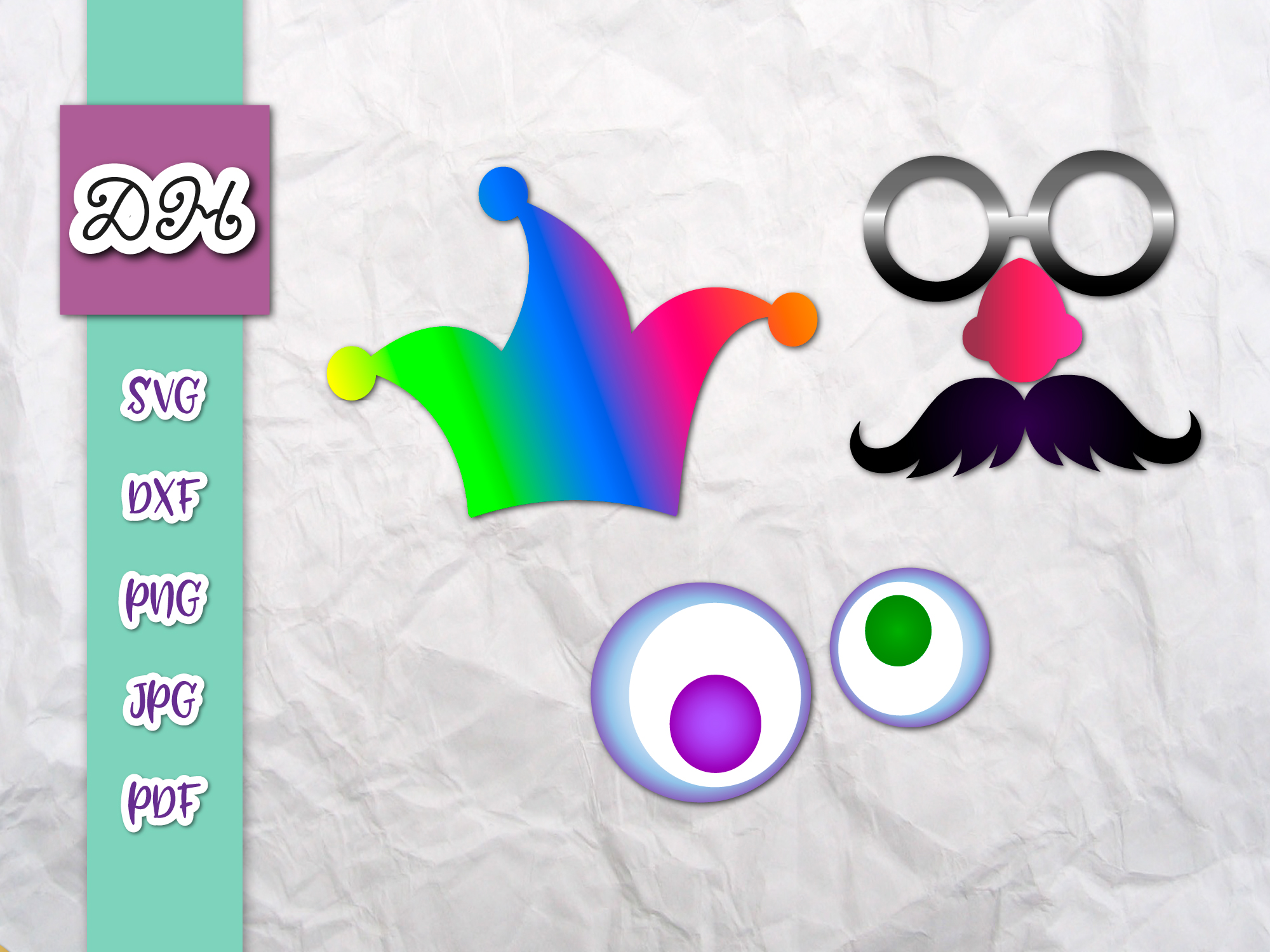 April Fools Day Party Props Sublimation Graphic By Digitals By