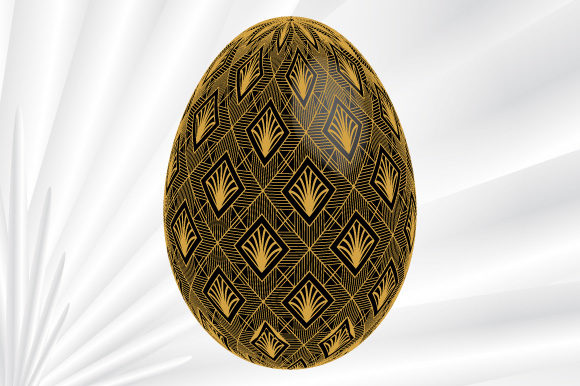Download Free Art Deco Easter Egg Vector Black Graphic By Graphicsfarm for Cricut Explore, Silhouette and other cutting machines.