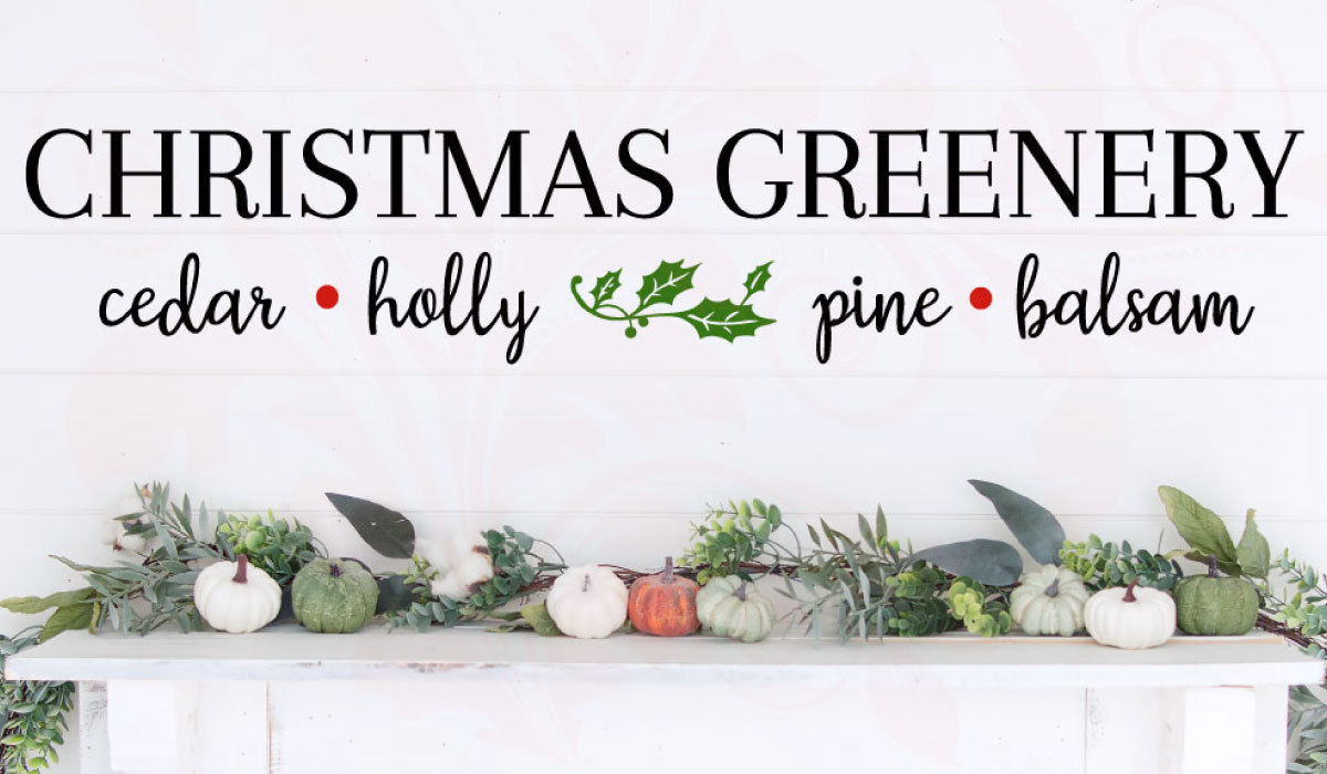 Download Free Christmas Greenery Wood Sign Graphic By Farmstone Studio for Cricut Explore, Silhouette and other cutting machines.