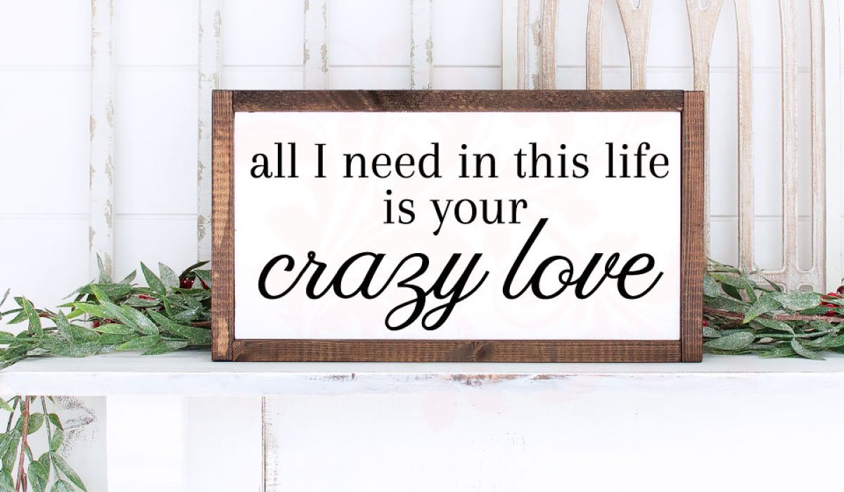 Download Free Crazy Love Wedding Digital Graphic By Farmstone Studio Designs for Cricut Explore, Silhouette and other cutting machines.