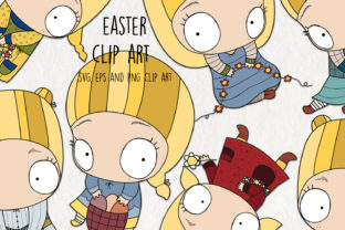 Easter Clipart Graphic Crafts By NotturnoClipArt