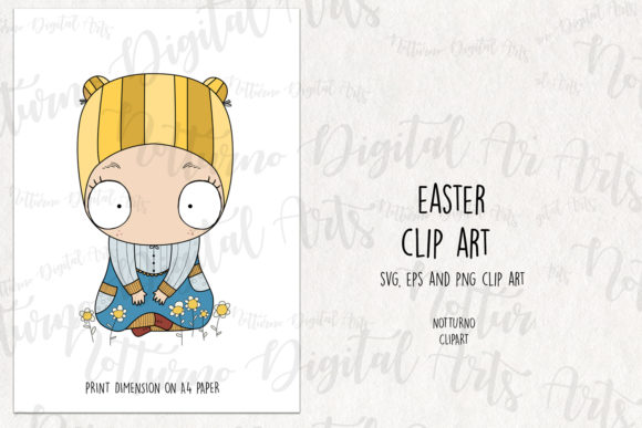 Download Free Easter Clipart Graphic By Notturnoclipart Creative Fabrica for Cricut Explore, Silhouette and other cutting machines.