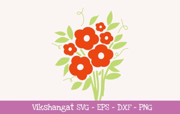 Download Free Flowers Floral Graphic By Vikshangat Creative Fabrica for Cricut Explore, Silhouette and other cutting machines.