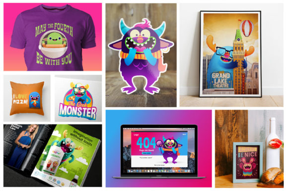 Print on Demand: Freaky Monster Creation Kit Graphic Illustrations By asaelvaras - Image 8