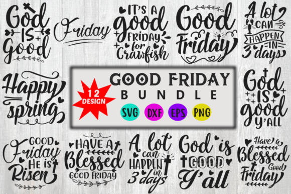 Download Free Good Friday Bundle Graphic By Red Box Creative Fabrica for Cricut Explore, Silhouette and other cutting machines.
