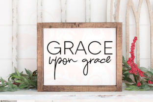 Download Free Grace Upon Grace Bible Graphic By Farmstone Studio Designs for Cricut Explore, Silhouette and other cutting machines.