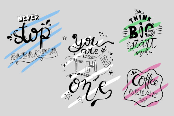 Download Free Hand Lettering Quotes Graphic By Wanida Toffy Creative Fabrica for Cricut Explore, Silhouette and other cutting machines.