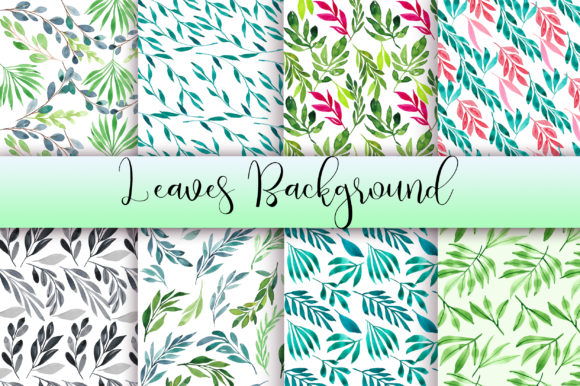 Leaves Watercolor Background Graphic Backgrounds By PinkPearly - Image 1