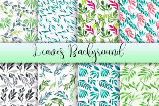 Leaves Watercolor Background Graphic Backgrounds By PinkPearly