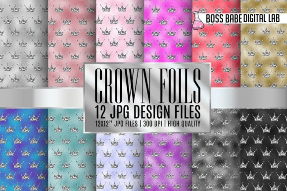 Print on Demand: Metallic Foil Textures Graphic Patterns By bossbabedigitallab