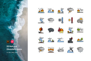 Natural Disaster Icons Pack Graphic Icons By StringLabs