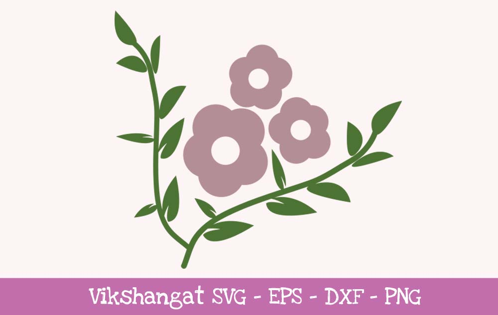 Download Free Purple Flowers Floral Graphic By Vikshangat Creative Fabrica for Cricut Explore, Silhouette and other cutting machines.