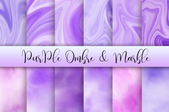 Download Free Purple Ombre And Marble Background Graphic By Pinkpearly for Cricut Explore, Silhouette and other cutting machines.