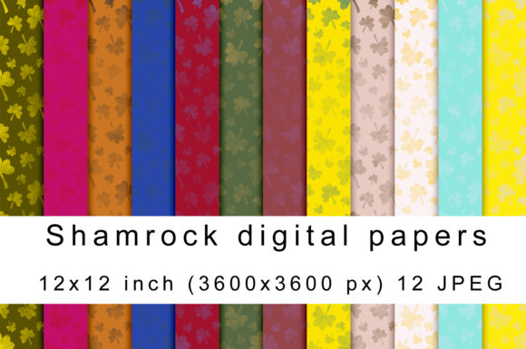 Print on Demand: Shamrock Digital Papers Graphic Patterns By Andrea Kostelic - Image 1