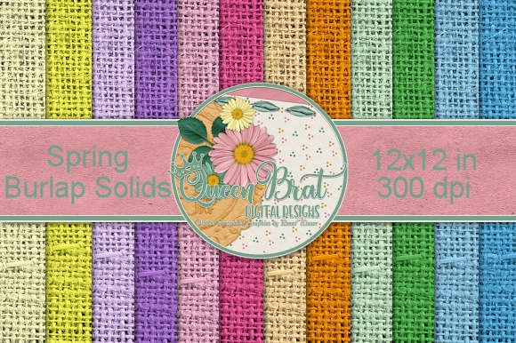 Print on Demand: Spring Burlap Solid Backgrounds Graphic Backgrounds By QueenBrat Digital Designs