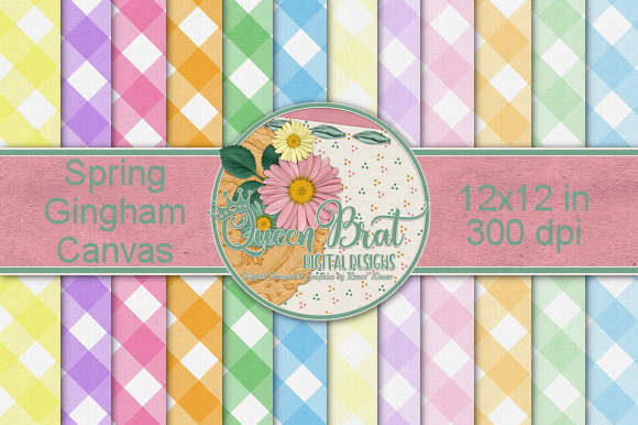 Download Free Spring Canvas Gingham Backgrounds Graphic By Queenbrat Digital Designs Creative Fabrica for Cricut Explore, Silhouette and other cutting machines.