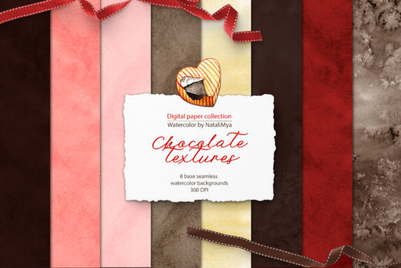 Watercolor Chocolate Textures Graphic Illustrations By NataliMyaStore - Image 1