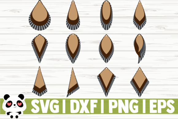 Print on Demand: 12 Stacked Fringe Earrings Graphic Illustrations By CreativeDesignsLLC - Image 1