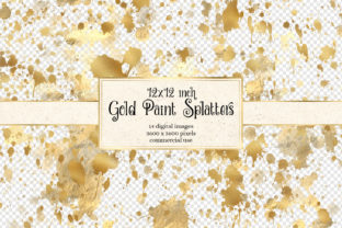 Print on Demand: 12x12 Gold Splatter Overlays Graphic Textures By Digital Curio