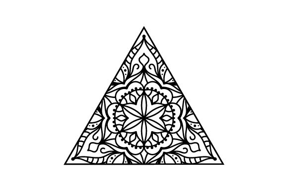 Triangle Mandalas Craft Cut File By Creative Fabrica Crafts