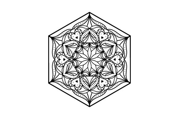 Hexagon Mandalas Archivo de Corte Craft Por Creative Fabrica Crafts
