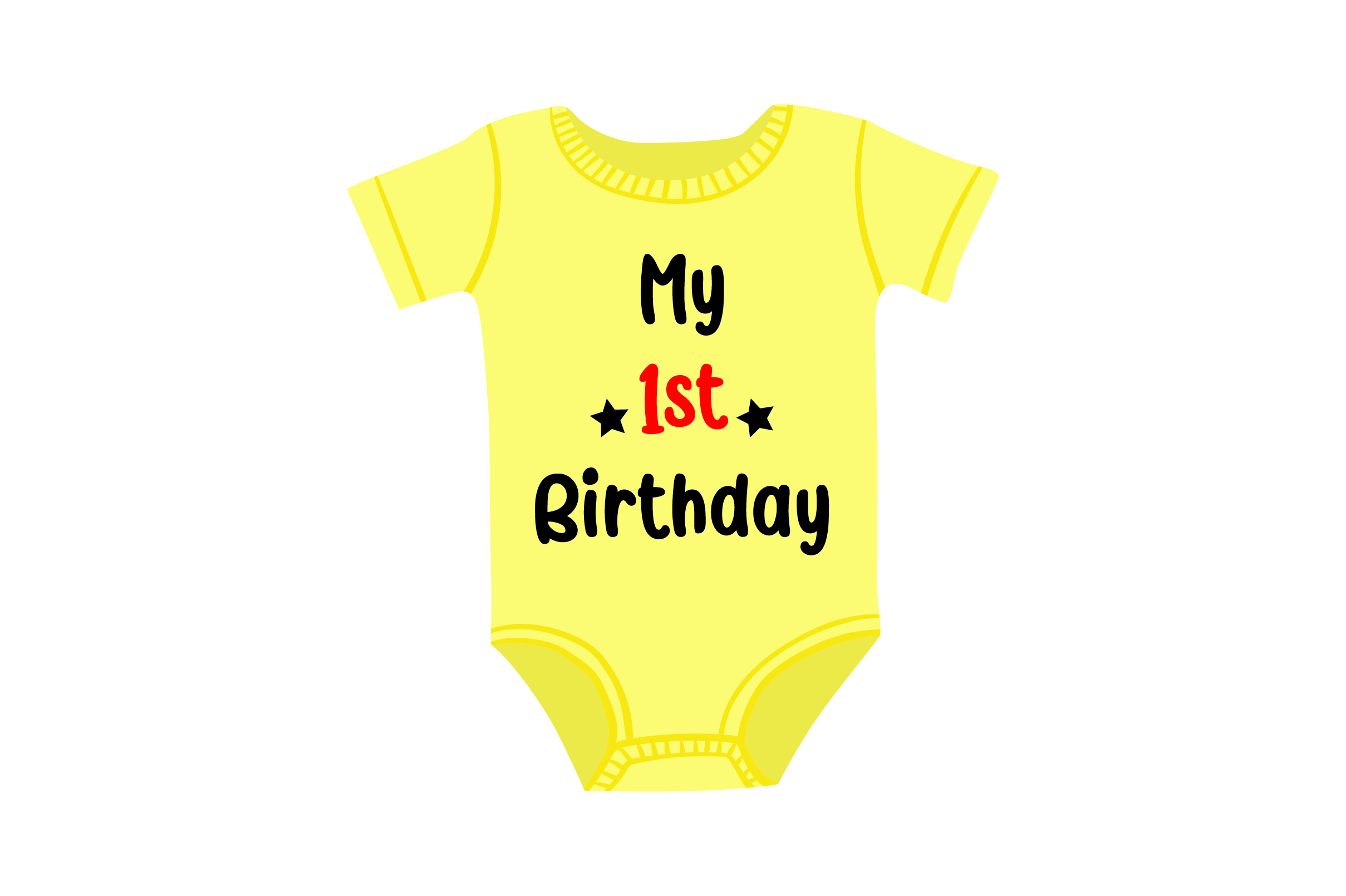 Download Free First Birthday Onesie Svg Cut File By Creative Fabrica Crafts for Cricut Explore, Silhouette and other cutting machines.