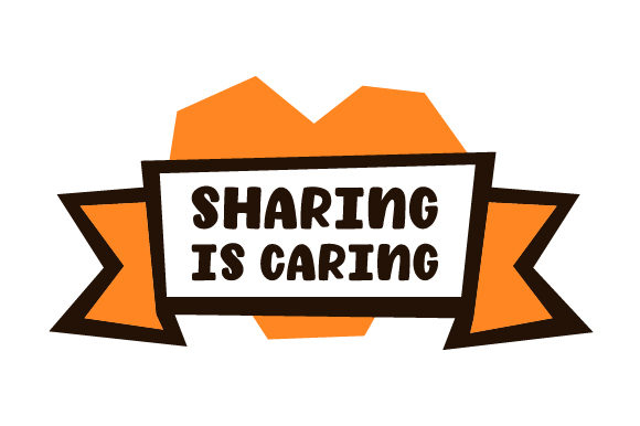 Sharing Is Caring Svg Cut File By Creative Fabrica Crafts