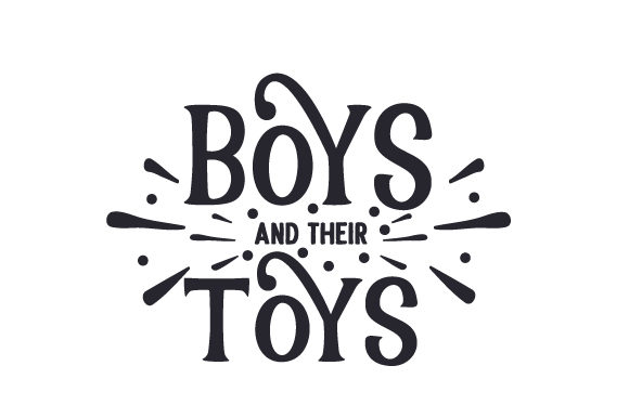 Boys and Their Toys Kids Craft Cut File By Creative Fabrica Crafts