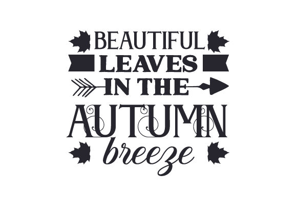 Beautiful Leaves in the Autumn Breeze Fall Craft Cut File By Creative Fabrica Crafts