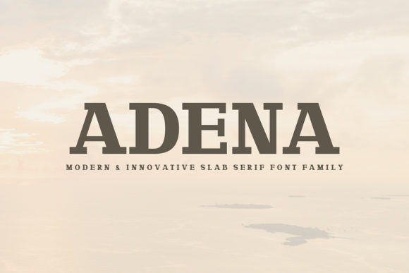 Print on Demand: Adena Slab Serif Fuente Por Creative Tacos