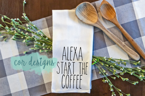 Print on Demand: Alexa Start the Coffee Graphic Crafts By designscor