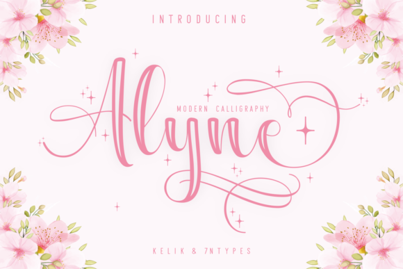 Print on Demand: Alyne Script & Handwritten Font By Kelik - 7NTypes