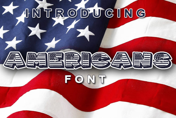 Print on Demand: Americans Decorative Font By vladimirnikolic