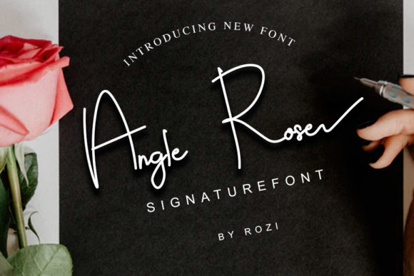 Print on Demand: Angle Rose Script & Handwritten Font By twinletter