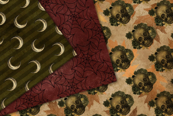 Print on Demand: Autumn Gothic Digital Paper Graphic Patterns By Digital Curio - Image 3